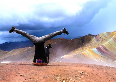 Pérou Yoga rainbow mountains, voyage amériques Nathalie Angly Yoga